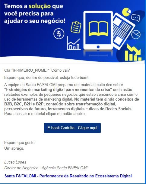 email marketing LP ebook MKT digital crise